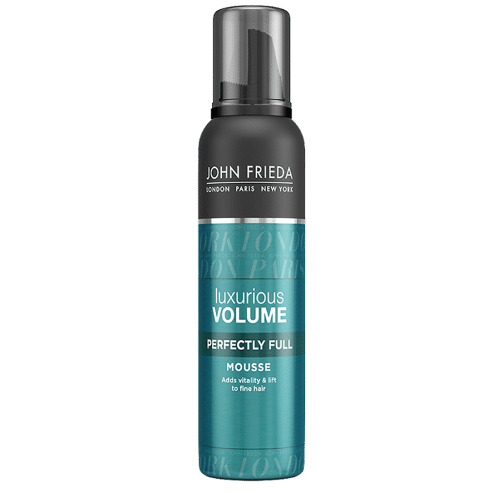 John Frieda Luxurious Volume Perfectly Full Mousse 200ml bottle - Hárfroða fyrir fíngert hár