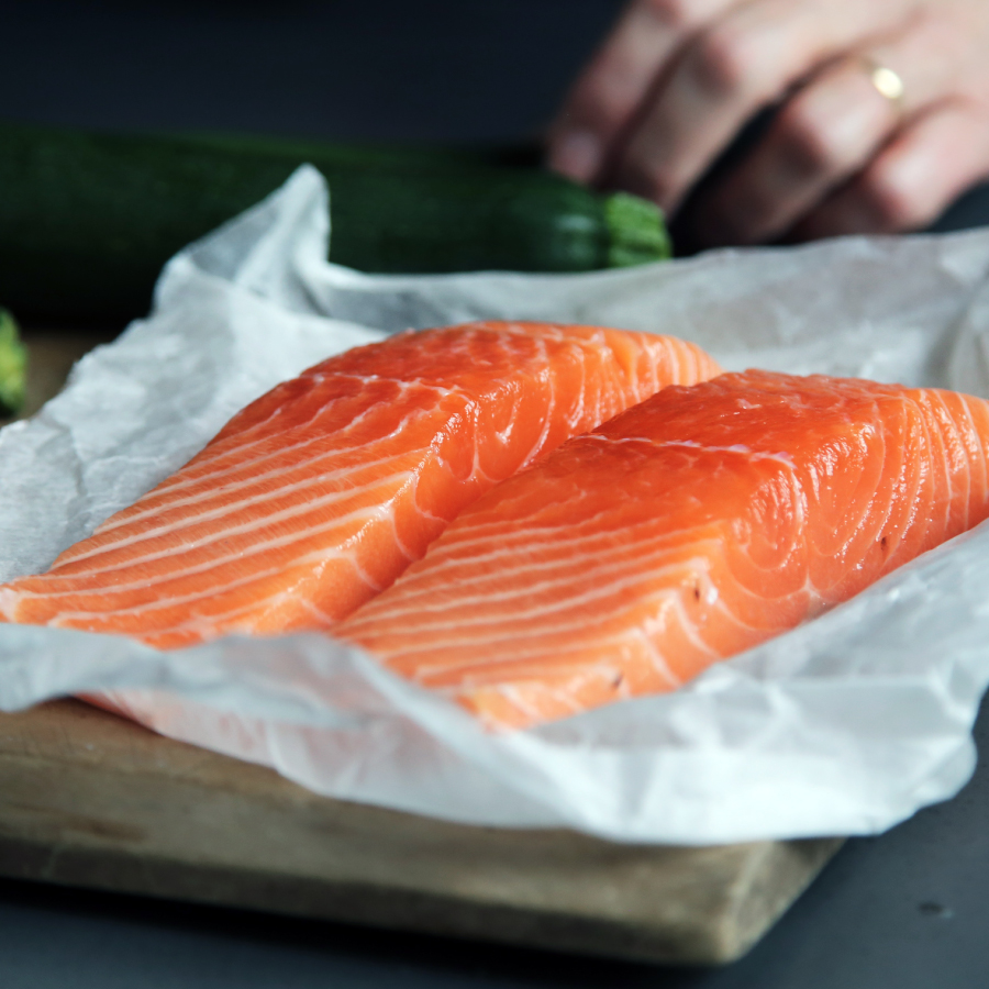 Picture of raw salmon
